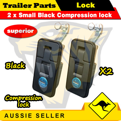AU25.95 • Buy 2x Small Black Compression Lock, Push Latch, Tool Box, RV, Canopy, Trailer Pop U