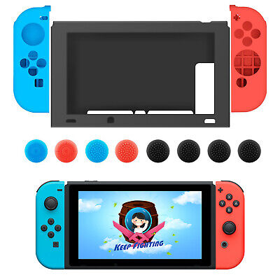 $8.97 • Buy For Nintendo Switch Anti-Slip Silicone Protective Skin Case Cover W/ Thumb Grips