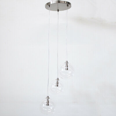 Clear Globe Glass Shade Cluster Ceiling Pendant G9 Light Clearance Litecraft • 59.99£