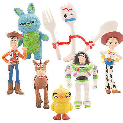 7 PCS Toy Story Buzz Lightyear Kids Toys Cake Topper Woody Action Figure Bulleye • 6.88£