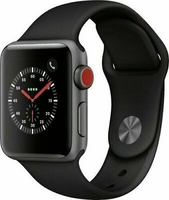 $ CDN312.98 • Buy Apple Watch Series 3 42mm GPS + Cellular 4G LTE - Space Gray - Black Sport Band