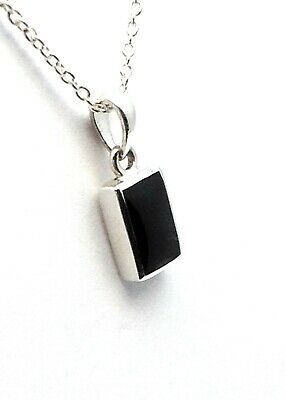 Genuine Whitby Jet And Sterling Silver Pendant Jp109 Hand Made In Whitby • 32£