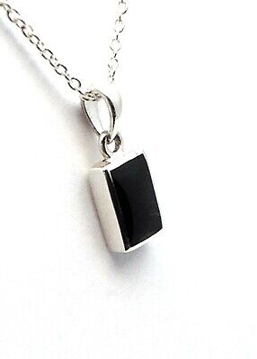 £36 • Buy Genuine Whitby Jet And Sterling Silver Pendant Jp109 Handmade In Whitby