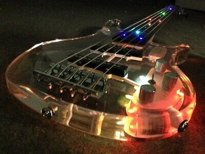 $ CDN540.65 • Buy LED Light 5 Strings Electric Bass Guitar Crystal Body