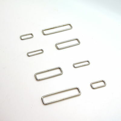 £1.18 • Buy Metal Rectangle Loop Rings Wire Formed Buckles For Webbing Strap Tape All Size