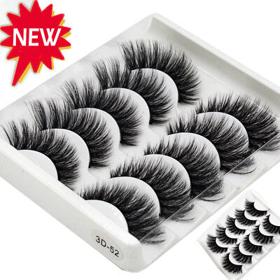 AU10.99 • Buy AU 10 Pairs 3D Mink False Eyelashes Wispy Cross Long Thick Soft Fake Eye Lashes