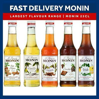 NEW Monin Coffee & Cocktail 25cl/250ml Glass Syrup Flavours-Combined Postage • 2.94£