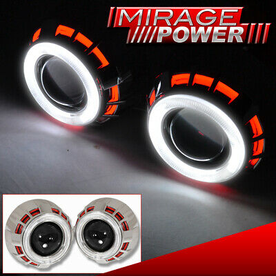 $ CDN111.40 • Buy For Toyota 2.5  Bi Xenon Hid Dual Round Halo Ring Retrofit Projector Headlights
