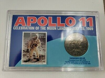 Apollo 11  Celebration Of The Moon Landing  Coin And Stamp  • 66.80£