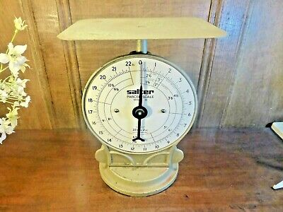 £27.95 • Buy VGC VINTAGE SALTER Cast Iron POSTAL/PARCEL SCALES No 25 - Weighs Up To 22lb