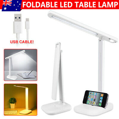AU16.95 • Buy USB LED Desk Lamp Touch Senor Bedside Table Lamps  Study Reading Light  Dimmable