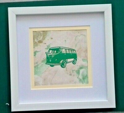 £16.99 • Buy Lovely Framed Camper Van Wall Art By Sarah Sample Art