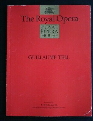 £14.99 • Buy Royal Opera House Programme Guillaume Tell 1992 - Signed