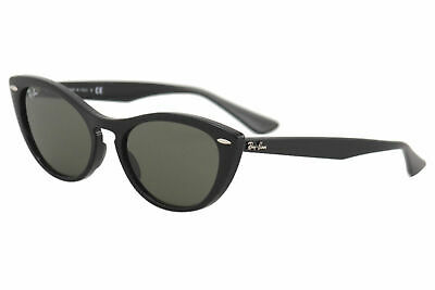 $165 • Buy Ray Ban Nina RB4314N RB/4314/N 601/31 Black Cat Eye RayBan Sunglasses 54mm