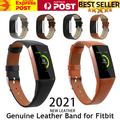 AU13.59 • Buy For Fitbit Charge 4 3 2 Leather Watch Band Strap Wristband Bracelet Replacement