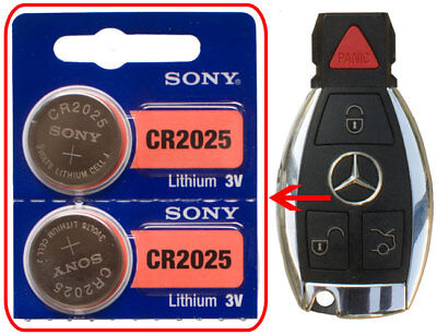 Mercedes Benz C250 C300 CL600 E350 2-Pack Battery Sony CR2025 For Remote Key FOB • 7.99$