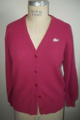 Vintage Haymaker Lacoste Dusty Rose Cardigan Sweater 42 • 57.88£