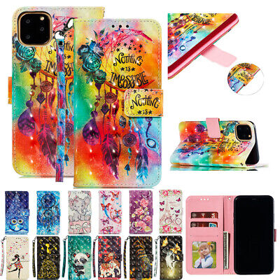 AU16.55 • Buy For IPhone 12 Pro Max 12 Pro 12 Patterned Flip Leather Wallet Stand Cover Case