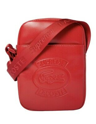 $ CDN530 • Buy Supreme Lacoste Shoulder Bag Red Brandnew With Bag And Tag From Lacoste Ds Limit
