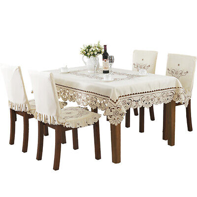 AU39 • Buy Pastoral Style Embroidered Tablecloth Table Cloth Lace Dining Table Cover Decor