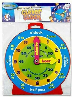 £5.49 • Buy Kids Teaching Clock Childrens Learn To Tell The Time Boys Girls Educational Toy