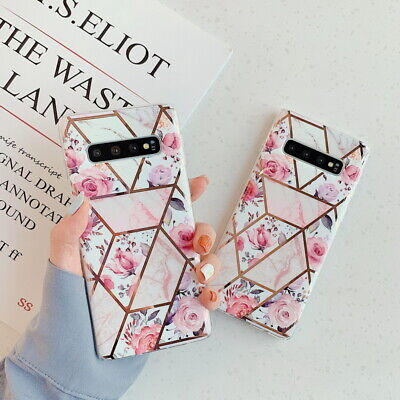 $ CDN5.06 • Buy For Samsung Galaxy Note 10 S9 S10 Plus Retro Flower Plating Soft IMD Case Cover