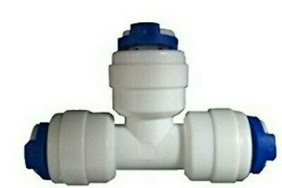 3 Ways Push Fit Tube 1/4  T Quick Connector (RO Reverse Osmosis HMA Filter) • 2.95£