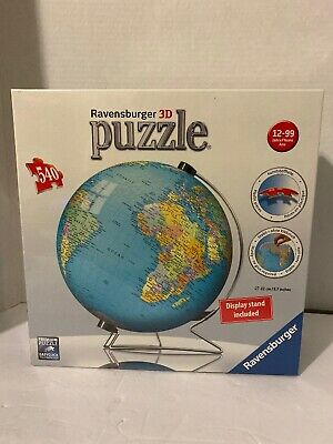 $25 • Buy Ravensburger - The Earth - 3d Puzzle Ball - 540 Piece World Globe With Stand New