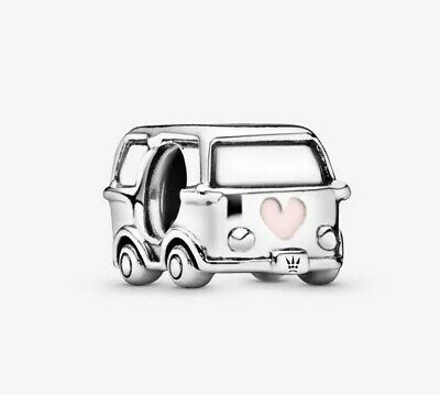 🇬🇧💜💜925 Sterling Silver Campervan Charm & Pouch • 15.99£