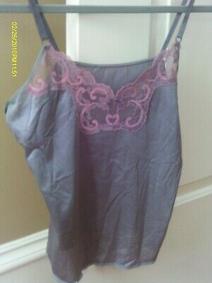 $9 • Buy Vintage Maidenform Gray Sweet Nothings Camisole Size 34
