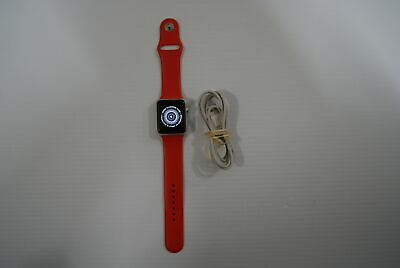 $ CDN52.54 • Buy Apple Watch Series 1 42mm Silver /w Red Band - For Parts Only, Activation Lock