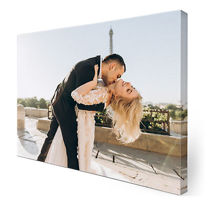 £7.99 • Buy Personalised Photo Canvas Print Your Picture Framed Wall Hanging A4 Canvas Art