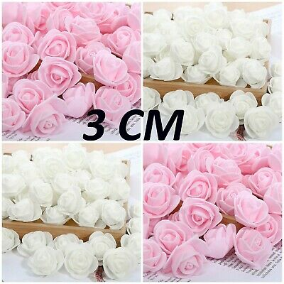 £2.99 • Buy 50 Small Foam Flower Heads - Rose Buds - 3cm - Weddings - Bows, Crafts - NEW IN