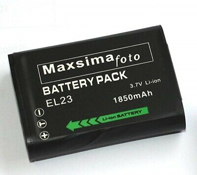 Maxsimafoto - Compatible Lithium Ion Battery ENEL23, EN-EL23 For NIKON P900 P610 • 10.99£