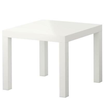 NEW IKEA LACK Small Side Table Vibrant Look White Low Weight Easy To Move 55x55 • 15.99£