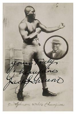 $12.94 • Buy Jack Johnson **LARGE POSTER** Boxing Heavyweight Champ 1914 Signed Autograph