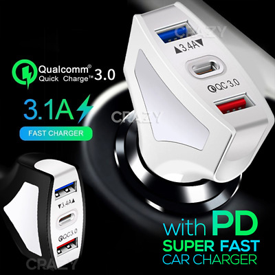 AU16.95 • Buy PD USB Type C Fast Charging Car Charger  IPhone 12 11 Pro Max XS XR 7 8 6 Plus