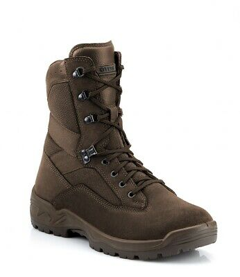 Brown Military Boots YDS Falcon Suede / Fabric Military Issue Combat Boot New 8w • 39.99£