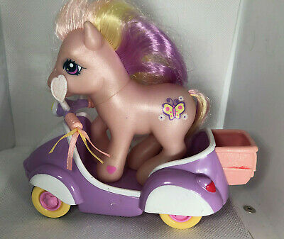 My Little Pony G3 Fluttershy Lavender/Yellow/Pink Butterfly W/ Car Accessory • 10.85£