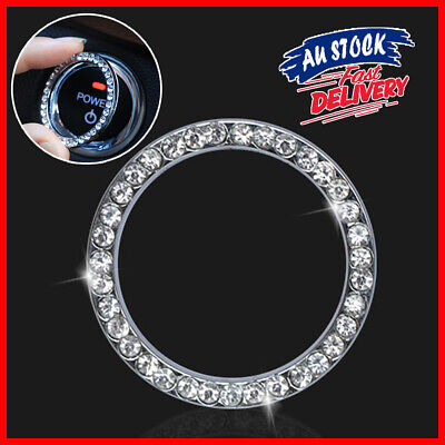 AU5.22 • Buy SUV Diamond Switch Car Accessories Button Ring Start Bling Decoration Circle