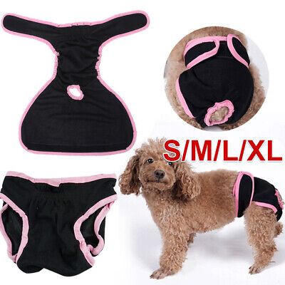 S-XL Shorts Pet Sanitary Pants Dog Season Undies Underpants Nappy Diapers Female • 5.82£