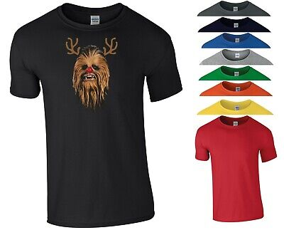 Reindeer Chewbacca T Shirt Star Wars Funny Joke Christmas Xmas Gift Men Tee Top • 8.99£