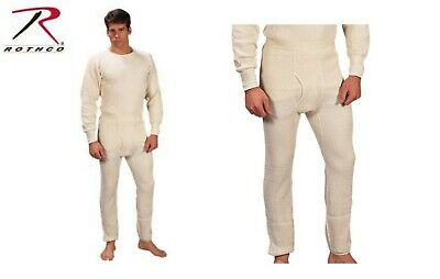 $22.99 • Buy Thermal Long Underwear Heavy Weight Johns Insulated Cotton Military Issue 6458