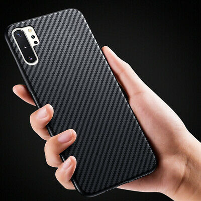 AU4.83 • Buy Carbon Fiber Silicone Soft Case Cover For Samsung Galaxy Note 10 Plus S10 S9 A70