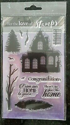 X 12 Clear Stamps: Hunkydory  NO PLACE LIKE HOME  - Factory Sealed, Fab Quality • 4.89£