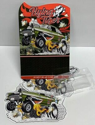 Hot Wheels RLC Flying Tiger '55 CHEVY BEL AIR GASSER CARD BACK & Stickers KIT • 19.95$