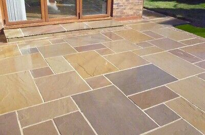 Calibrated Indian Stone Paving, Multiple Finishes, Project Packs (16.5m2) • 428.72£