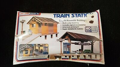 $ CDN16.35 • Buy Life-Like Train Station HO Scale Building Kit Brand New Still Sealed #1347