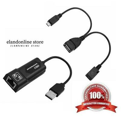 USB 2.0 To RJ45 Ethernet Adapter LAN Network Converter With Dual Micro USB H1 • 5.45$
