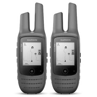 AU506.85 • Buy Garmin Rino 700 5watt UHF Handheld GPS 2-Way Radio Twin Pack [GEN GARMIN WARR]